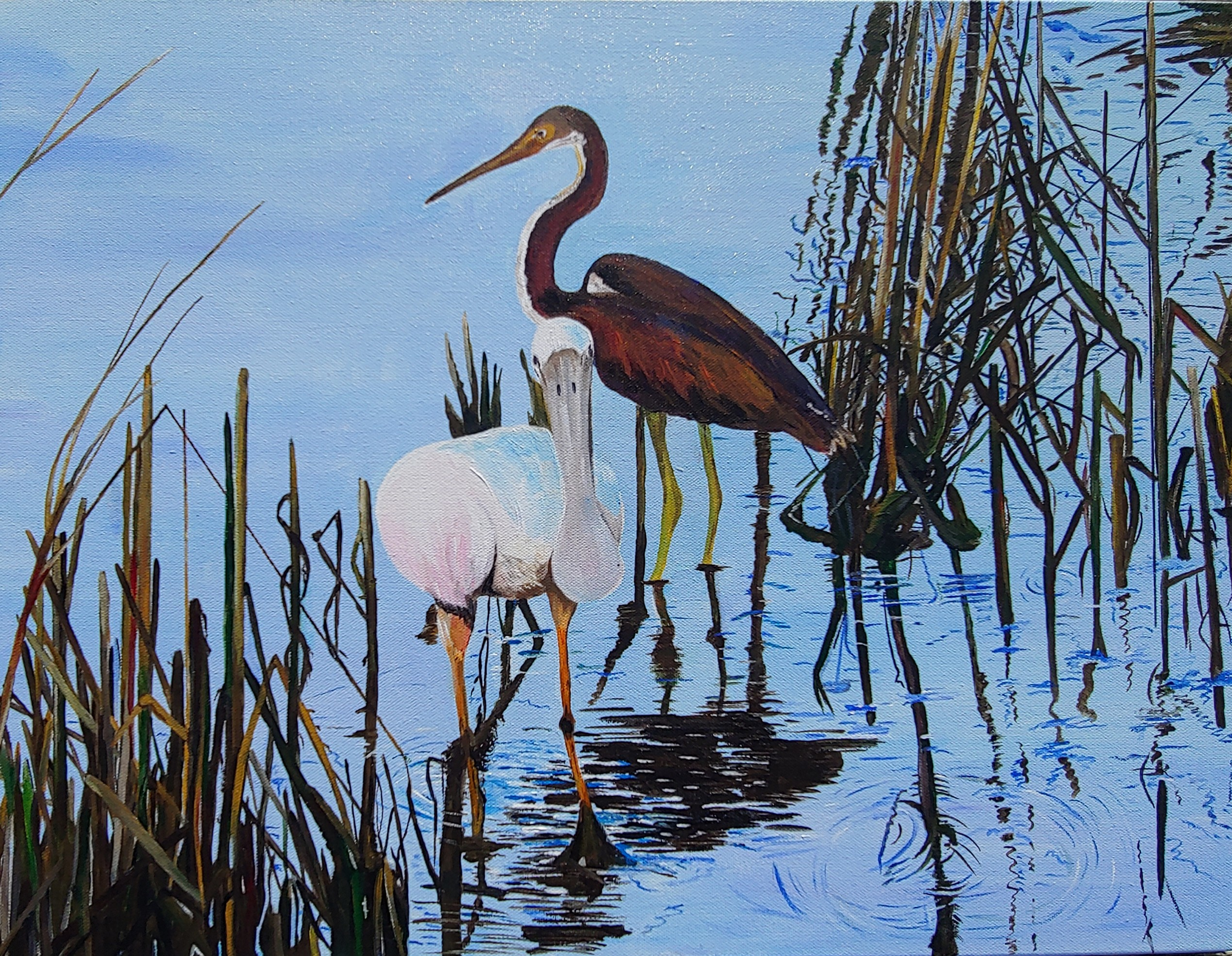 Friends in the Reeds 24 x 118 $250