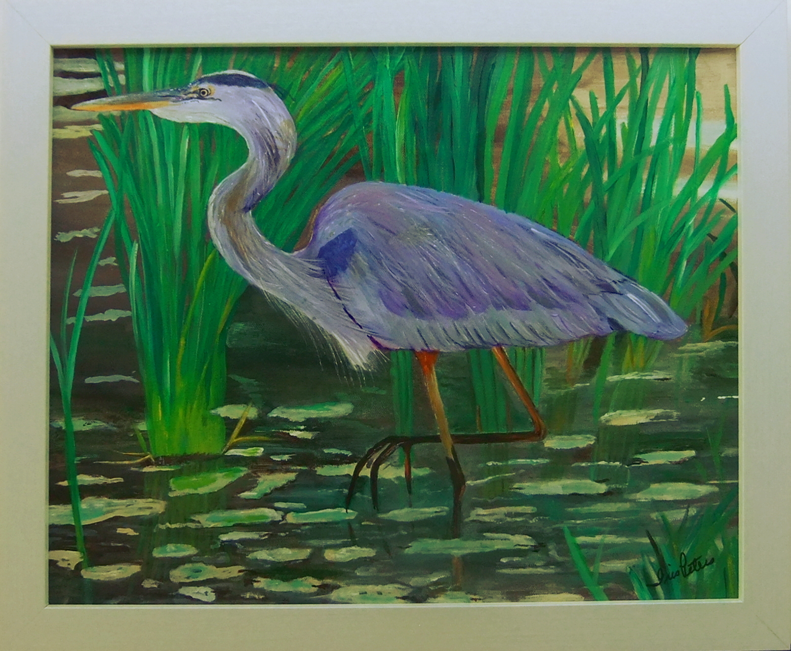 heron in the stream 20 x 18 $200