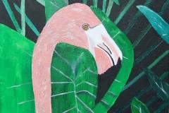 Flamingo 14 x 11 $60