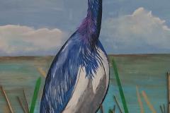 Heron in Reeds 15 x 30      $200