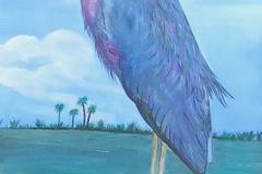 bird on wrapped pole 15 x 30     $200