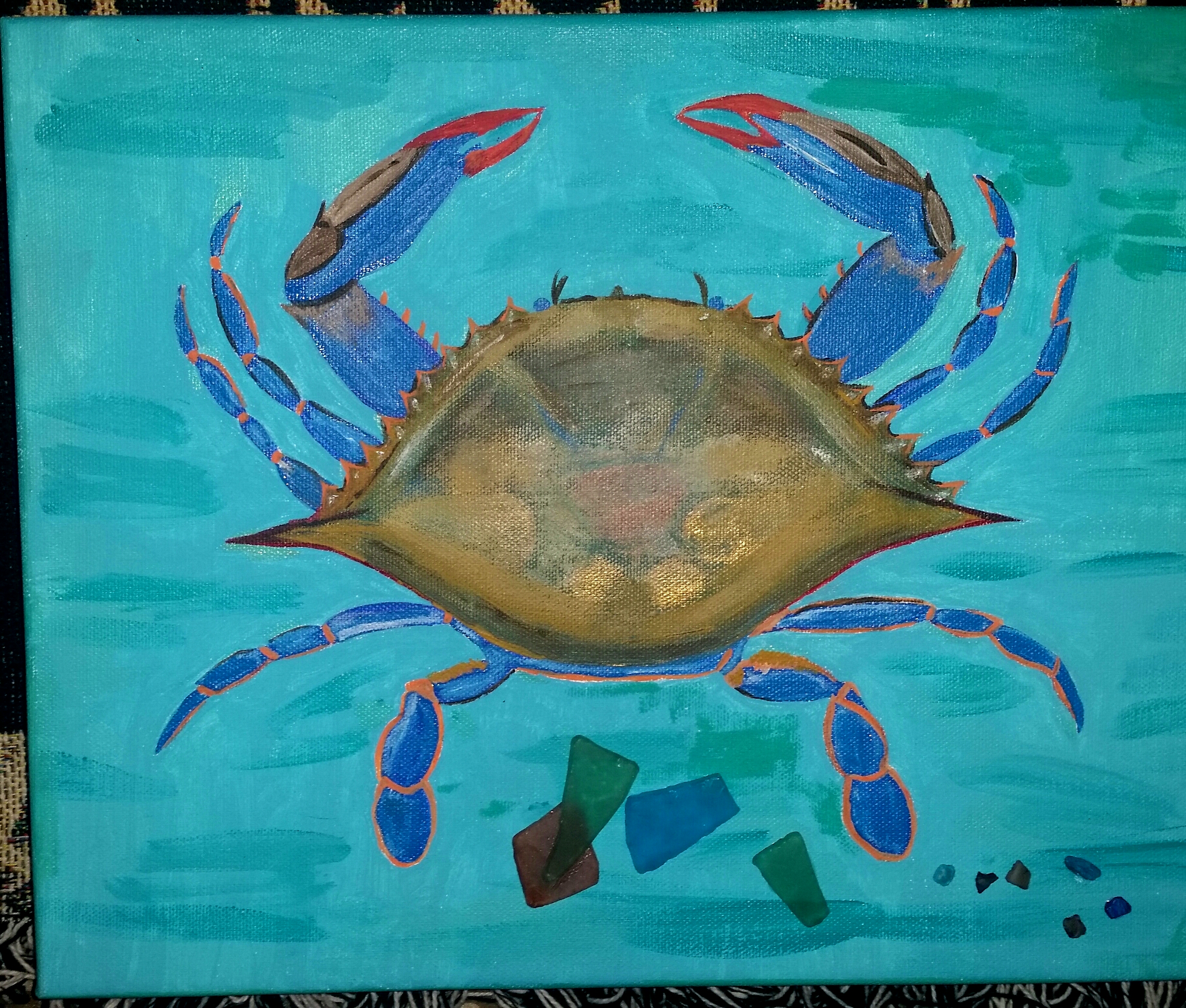 Blue Crab 11 x 14    $60