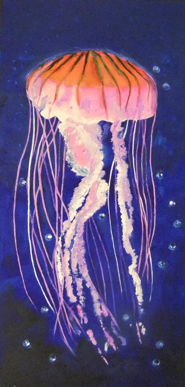 Jellyfish 12 x 24  $75
