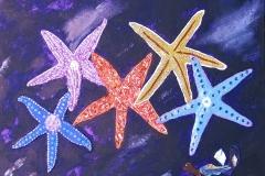 Starfish on Blue  24 x 18  150