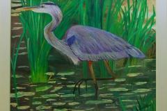 heron in the stream]
