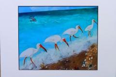 ibis on beach print  total size $25