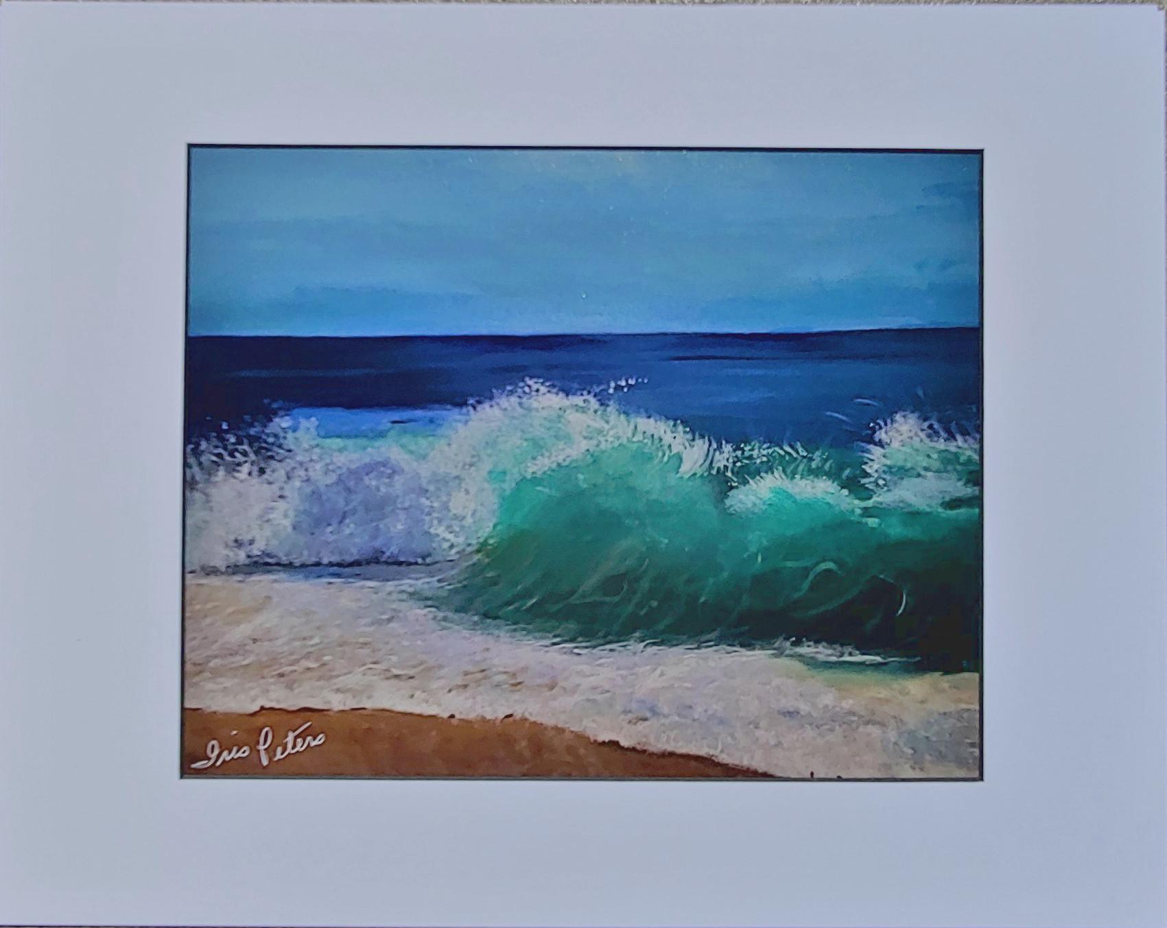 ocean wave print    total size  14 x 11   $25