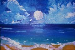 Moon on the Beach 10 x 8       $60