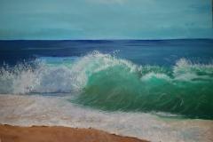 Ocean  Wave 1  24 x 18         $250