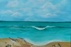 Peaceful Sandpipers 24 x 18  $200