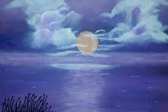 Purple Moon  24 x 24       $200