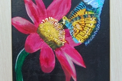 flower and butterfly  8 x 10           $60